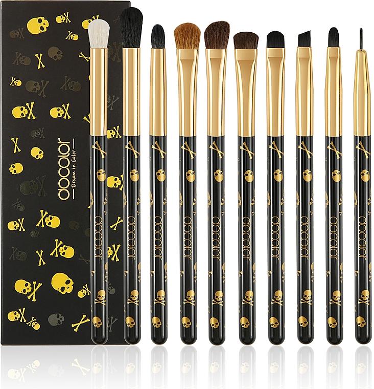 "Набор кистей для теней ""Goth"" Р1005, 10 шт - Docolor Eye Makeup Brush Set"