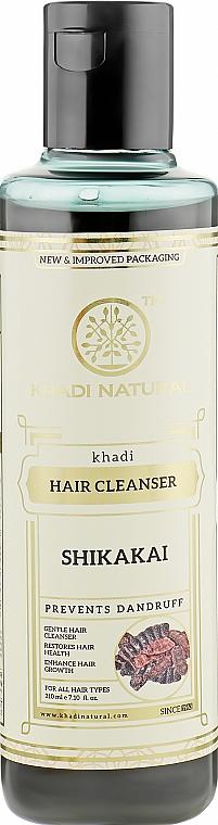 """Натуральный травяной шампунь """"Шикакай"""" против перхоти, выпадения и ломкости волос с мыльными орешками и амлой - Khadi Natural Ayurvedic Shikakai Hair Cleanser"""