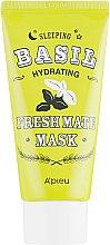 Духи, Парфюмерия, косметика Увлажняющая маска с экстрактом базилика и баобаба - A'pieu Fresh Mate