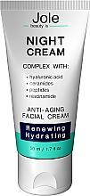 Духи, Парфюмерия, косметика Восстанавливающий ночной крем с гиалуроновой кислотой, комплексом пептидов и керамидов - Jole Night Cream Anti-Aging Facial Cream