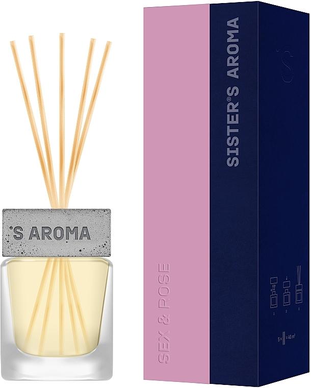 Парфюмированный аромат для дома «Sex & Rose» - Sister's Aroma Reed Diffuser