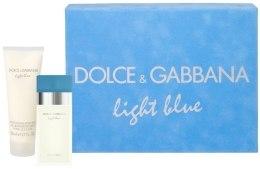 Духи, Парфюмерия, косметика Dolce&Gabbana Light Blue - Набор (edt 25 + b/c 50)