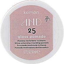 Духи, Парфюмерия, косметика Паста для придания блеска - Kemon And Gloss Pomade 25