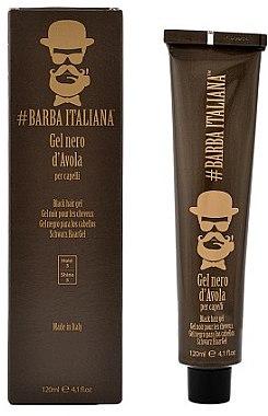 Черный гель для волос - Barba Italiana D'Avola