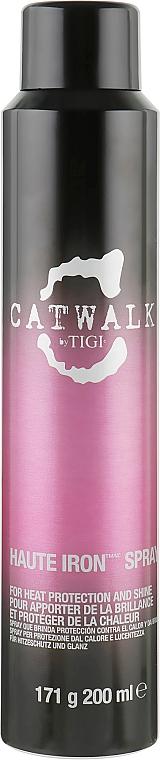 Термозащитный спрей для блеска волос - Tigi Catwalk Haute Iron Spray