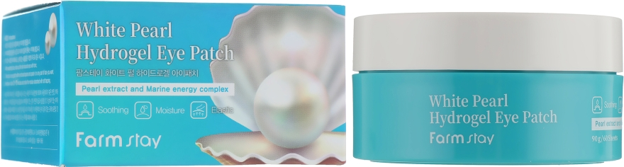 Патчи гидрогелевые с экстрактом жемчуга - Farmstay White Pearl Hydrogel Eye Patch