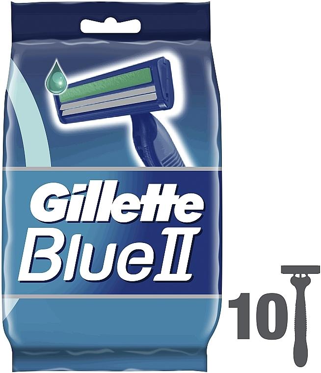 Набор одноразовых станков для бритья, 10шт - Gillette Blue II