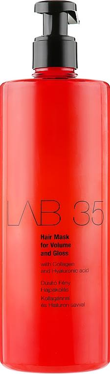 Маска для объема и блеска волос - Kallos Cosmetics Lab35 Mask