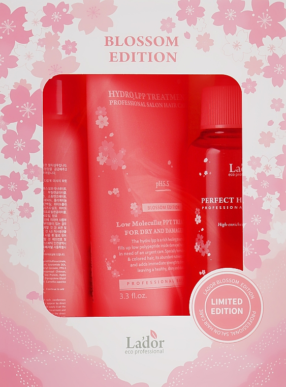 Набор - La'dor Blossom Edition (shmp/100ml + mask/100ml + filler/100ml)