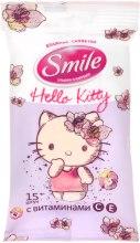 "Духи, Парфюмерия, косметика Влажные салфетки ""Hello Kitty"" 15шт, сиреневые - Smile Ukraine Hello Kitty"