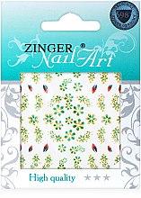Духи, Парфюмерия, косметика Наклейки для дизайна ногтей, fda-195 - Zinger Nail Art Sticker