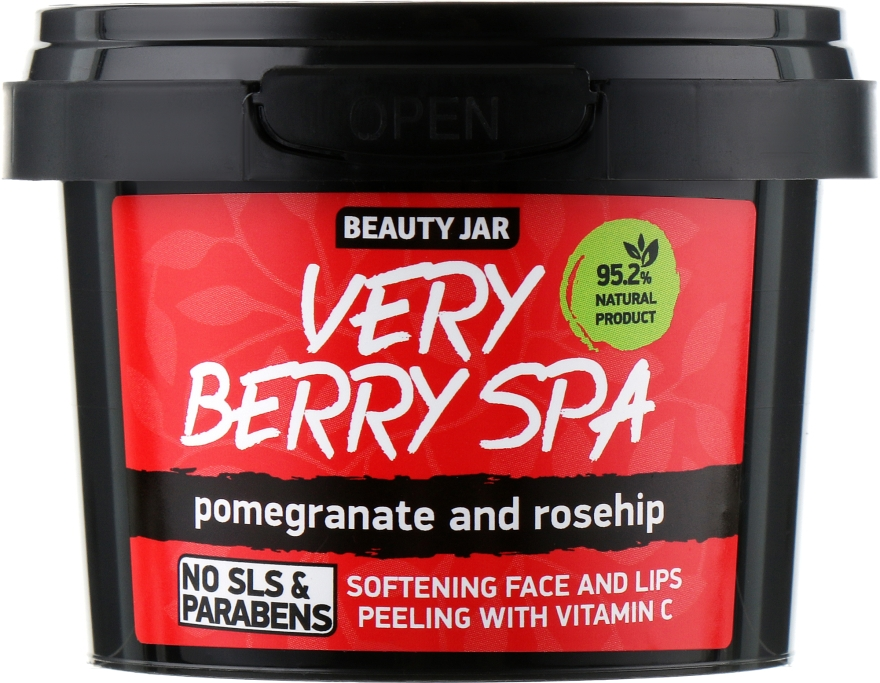 """Скраб для лица и губ """"Very Berry Spa"""" - Beauty Jar Softening Face And Lips Peeling With Vitamin C"""