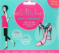 Духи, Парфюмерия, косметика Гелевые подушечки для ног - The Foot Factory Twin Pack Gel Foot&Heel Cushions