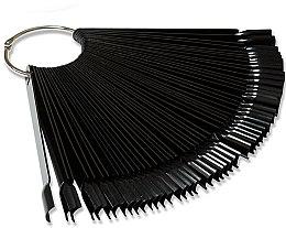 Парфумерія, косметика Тіпси на кільці, чорні, 50 шт. - PNB Nail Tips
