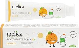 """Духи, Парфюмерия, косметика Детская зубная паста """"Персик"""" - Melica Organic Toothpaste For Kids Peach"""
