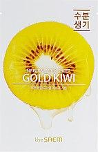 Духи, Парфюмерия, косметика Тканевая маска для лица с экстрактом киви - The Saem Natural Gold Kiwi Mask Sheet
