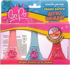 Духи, Парфюмерия, косметика Набор лаков для ногтей 3шт, розовый, голубой, оранжевый - BoPo