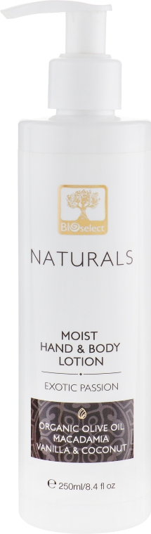 """Нежное увлажняющее молочко для рук и тела """"Экзотическая страсть"""" - BIOselect Naturals Hand Body Milk"""