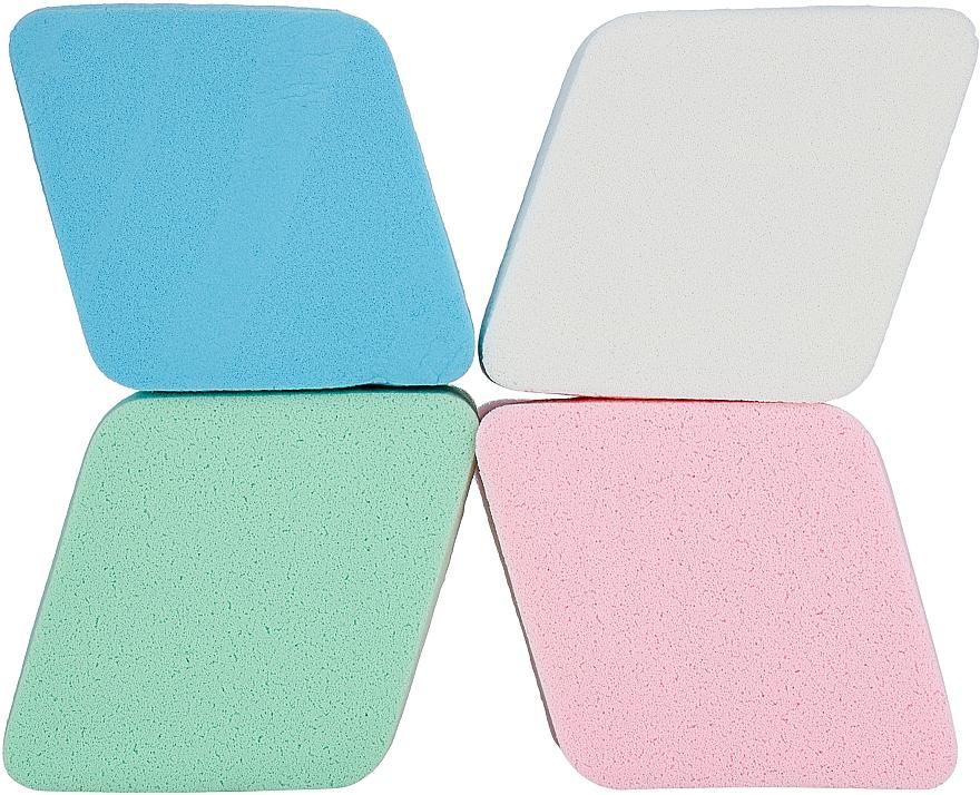 """Набор спонжей """"Ромб"""" для тональной основы и консилера PF-07, разноцветные - Puffic Fashion"""