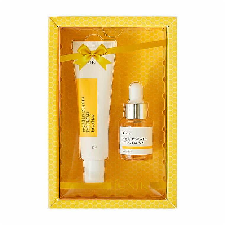 Набор - iUNIK Propolis Vitamin Eye Cream Set (eye/cr/30ml + ser/15ml)