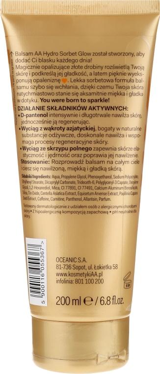 Бальзам для тела - AA Cosmetics Hydro Sorbet Glow Gold Charm — фото N2