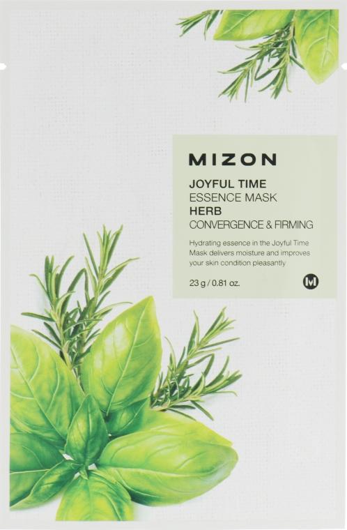 """Тканевая маска для лица """"Травы"""" - Mizon Joyful Time Essence Mask"""