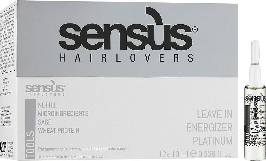 Ампулы против выпадения волос - Sensus Tools Leave-In Energizer Platinum