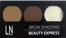 Парфумерія, косметика Палетка для брів - LN Professional Brow Shadows Beauty Express