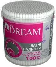 Духи, Парфюмерия, косметика Ватные палочки в круглой пластиковой банке, 100 шт - Air Dream