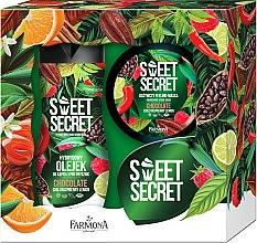 "Духи, Парфюмерия, косметика УЦЕНКА Набор ""Шоколад"" - Farmona Tutti Frutti Sweet Secret (oil/300ml + b/mask/200g) *"