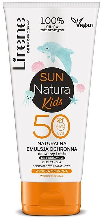 Эмульсия для загара SPF 50+, детская - Lirene Sun Natura Kids Protective Emulsion SPF50+