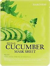 Духи, Парфюмерия, косметика Тканевая маска с огурцом - Beauadd Baroness Mask Sheet Cucumber