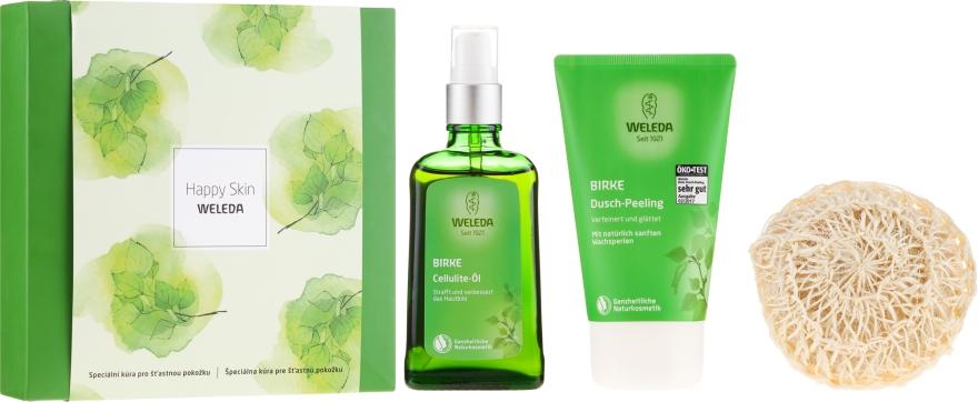Набор - Weleda Happy Skin (b/peel/150ml + b/oil/100ml + sh/sponge)