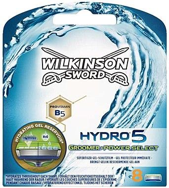 Сменные лезвия, 8шт. - Wilkinson Sword Hydro 5 Groomer Power Select — фото N1