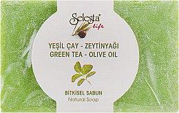 """Духи, Парфюмерия, косметика Натуральное мыло """"Зеленый чай и оливковое масло"""" - Selesta Life Green Tea & Olive Oil Natural Soap"""