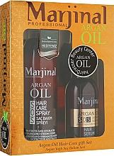 Духи, Парфюмерия, косметика УЦЕНКА! Набор для восстановления волос - Marjinal Argan Hair Treatment (argan/ser/150ml + argan/spray/250ml)