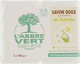 "Духи, Парфюмерия, косметика Твердое мыло ""Жасмин"" - L'Arbre Vert Jasmine Bio Soap"