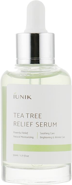 Успокаивающая сыворотка с чайным деревом - iUNIK Tea Tree Relief Serum