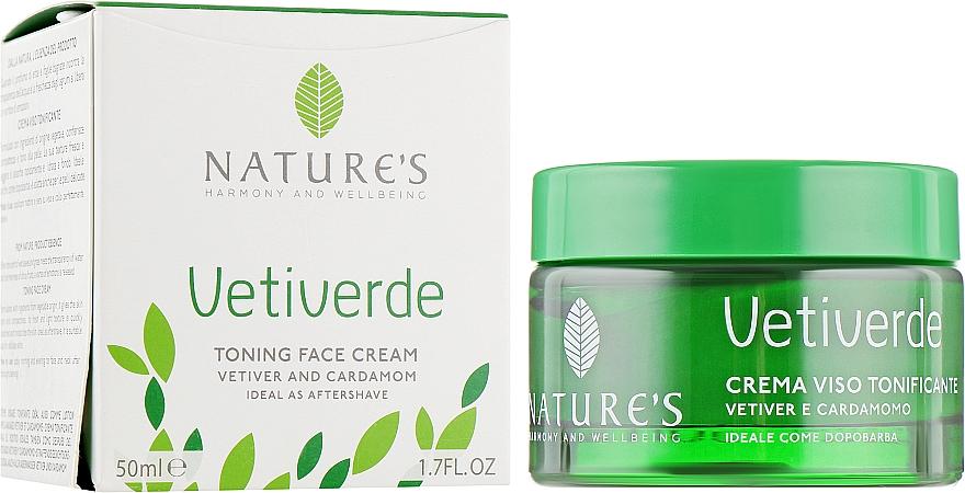 Тонизирующий крем для лица - Nature's Vetiverde Toning Face Cream
