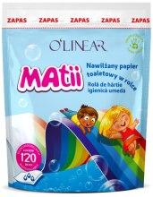 Духи, Парфюмерия, косметика Детская влажная туалетная бумага, 120шт - O`linear Matii (сменный блок)