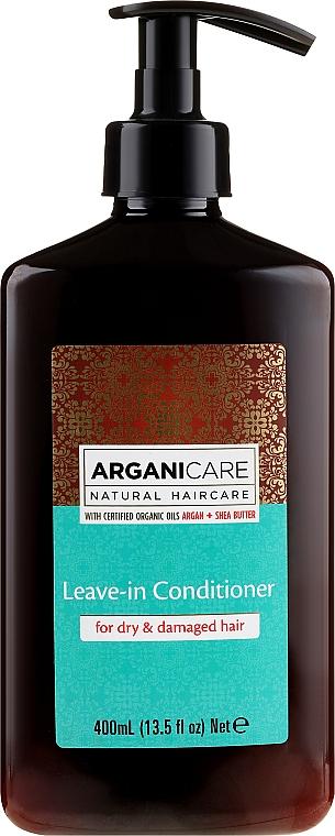 Несмываемый кондиционер для сухих и поврежденных волос - Arganicare Leave-In Hair Conditioner for Dry Damaged Hair