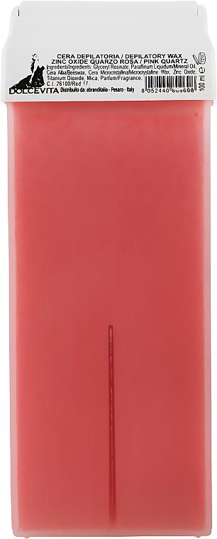 "Воск в картридже ""Розовый кварц с цинком"" - Dolce Vita Depilatory Wax Pink Quartz"