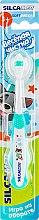 """Духи, Парфюмерия, косметика Зубная щетка """"Веселая чистка"""", бирюзовая - Silca Silcadent"""