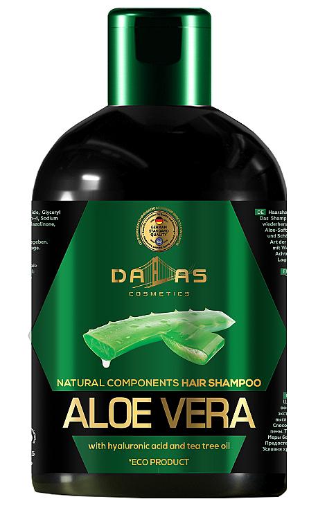 Шампунь для волос с гиалуроновой кислотой, натуральным соком алоэ и маслом чайного дерева - Dallas Cosmetics Aloe Vera Hair Shampoo