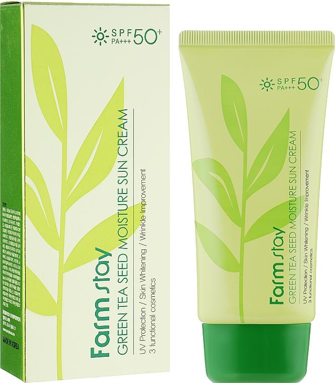 Защитный увлажняющий крем - FarmStay Green Tea Seed Moisture Sun Cream SPF50