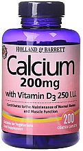 Духи, Парфюмерия, косметика Кальций и витамин D - Holland & Barrett Calcium with Vitamin D3 200mg