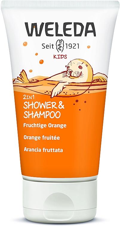 """Детский шампунь-гель 2в1 """"Апельсин"""" - Weleda Kids 2in1 Shampoo & Bodu Wash Fruchtige Orange"""