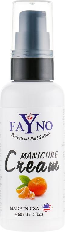 """Увлажняющий крем для рук и кутикулы """"Мандарин"""" - Fayno Manicure Cream"""