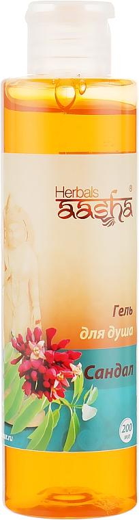 "Гель для душа ""Сандал"" - Aasha Herbals Shower Gel"