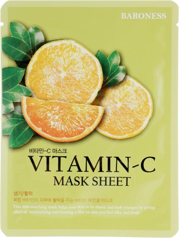 Тканевая маска с витамином С - Beauadd Baroness Mask Sheet Vitamin C